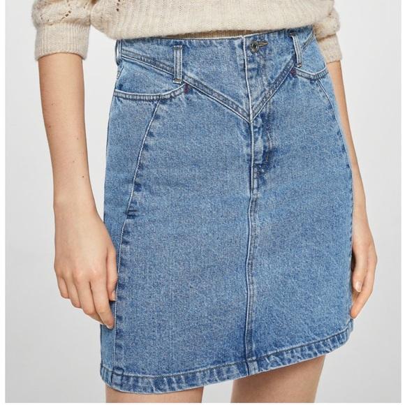 Mango Dresses & Skirts - NEW Mini jeans skirt Mango